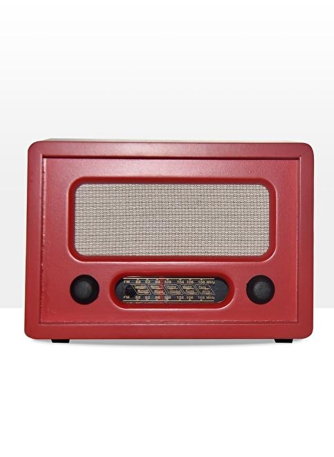 Decarthome Nostaljik Ahşap Radyo  Kırmızı